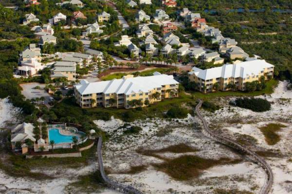 Martinique on the Gulf Resort in Gulf Shores Alabama from aerial view