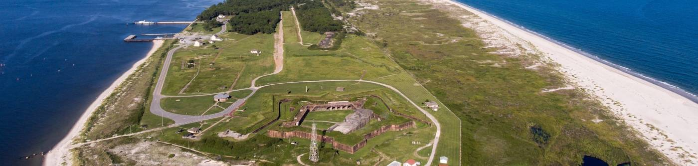 Fort Morgan Historic Site in Alabama Aerial View